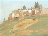 landscape with ruins by constantin artachino