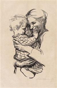 mutter mit kind im arm by käthe kollwitz