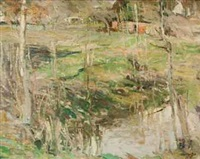 spring landscape by george oberteuffer