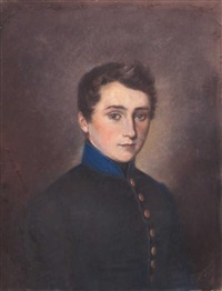 portrait d'un jeune officier by edmond collignon