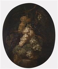ein paar traubenstillleben (2 works) by gilardo da lodi