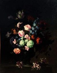 bouquet de fleurs sur un entablement by antoine monnoyer