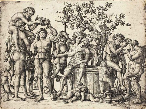 the bacchanal by andrea mantegna