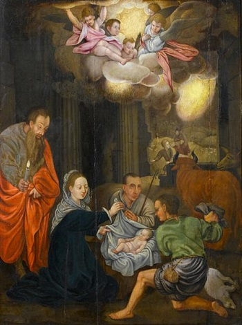 the adoration of the shepherds by lambert lombard