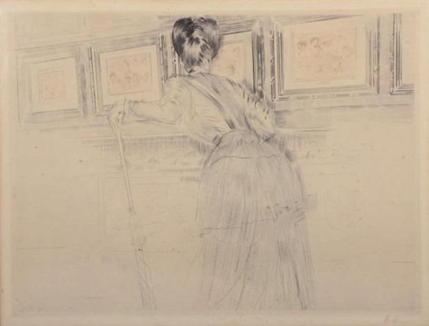 les trois crayons de watteau ou madame helleu devant les dessins de watteau au louvre by paul césar helleu