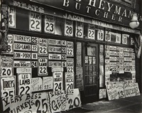 heyman's butcher shop, new york by berenice abbott