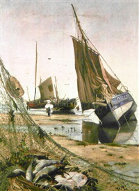 retour de pêche à dieppe by ludovic lepic
