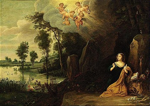 mary magdalen in penitence by peeter van avont