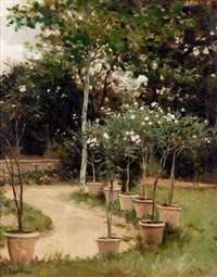 jardin du peintre by edouard bernard debat-ponsan