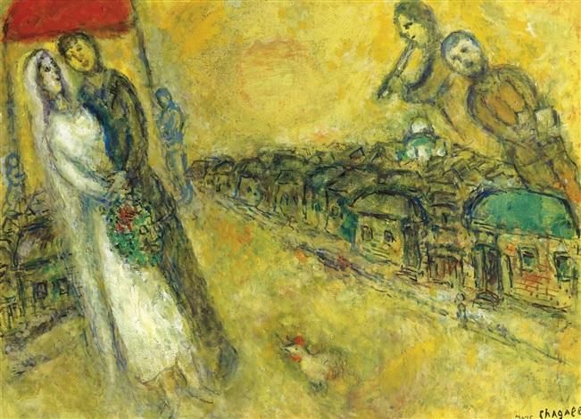 LES MARIÉS SOUS LE BALDAQUIN by Marc Chagall on artnet
