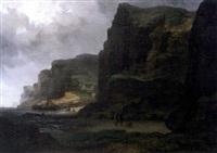 bord de mer avec falaises - côte normande by raymond eugène goethals
