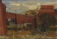 paysage vue de ville by michel rodde