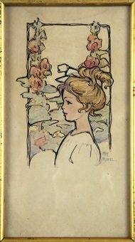 profile of a young girl by mary sydnor (mrs. octave) morel