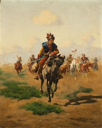 the charge, a cossack on horseback by wladislaw karol szerner