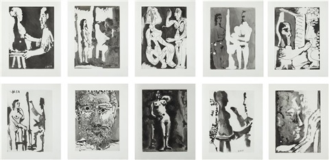 sable mouvant portfolio set of 10 by pablo picasso