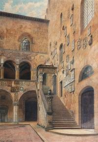 florenz: innenhof des palazzo vecchio by giuila cecchi