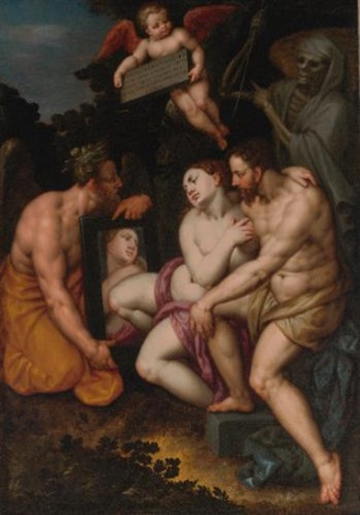 an allegory of the transience of earthly beauty and love by jacob de backer
