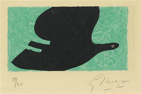 pl 6 from lordre des oiseaux by georges braque