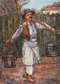 peasant with a shoulder yoke by partog vartanian