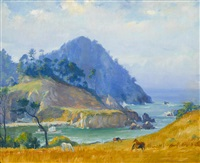smuggler's cove, point lobos by abel george warshawsky