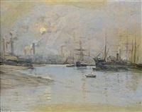 le port de rochester by fernand marie eugène legout-gérard