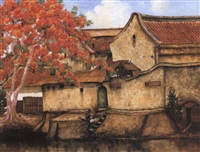 chinese district in oil batavia by ernst agerbeek