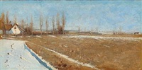 winter landscape by laurits andersen ring