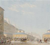 vue du marché des jacobins by pierre françois léonard fontaine