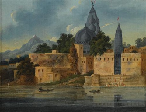 visnupad temple at hindu gaya by charles sir doyly