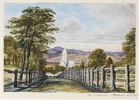 topographical views in and around adelaide and the barossa valley, south australia (album of 154 sketches) by reverend arthur sells