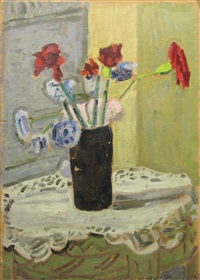 vase with flowers by vasile varga