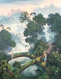 landscape in bali by gustra