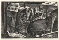 arrivals, south street seaport by william p. abbe