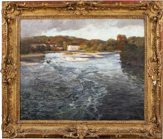 elv i frankrike by frits thaulow