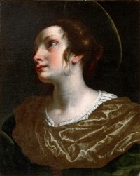 tête de sainte catherine by lorenzo lippi