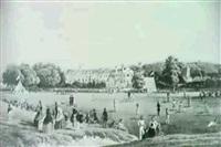 the cricket mathc, tonbridge school             (by w.l. walton) by charles tattershall dodd the elder
