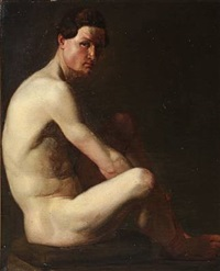 study of a nude male by nicolaj-abraham abilgaard
