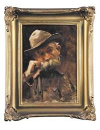 portret mężczyzny by sigismund ajdukiewicz