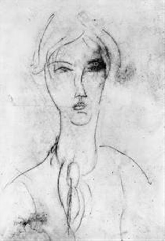 portrait de jeune fille à la cravate by amedeo modigliani