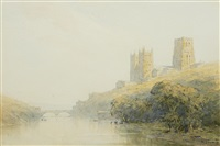 view of durham cathedral by gerald ackermann