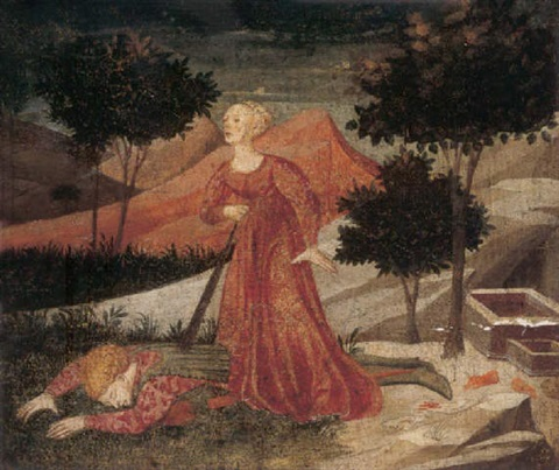 pyramus and thisbe by apollonio di giovanni di tommaso