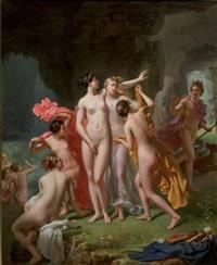 diane surprise au bain par actéon by charles victoire frederic moench