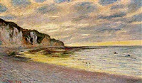 pointe de l'ailly, marée basse by claude monet
