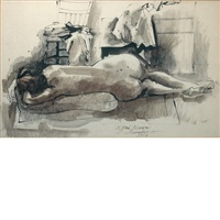 woman in repose by byron browne