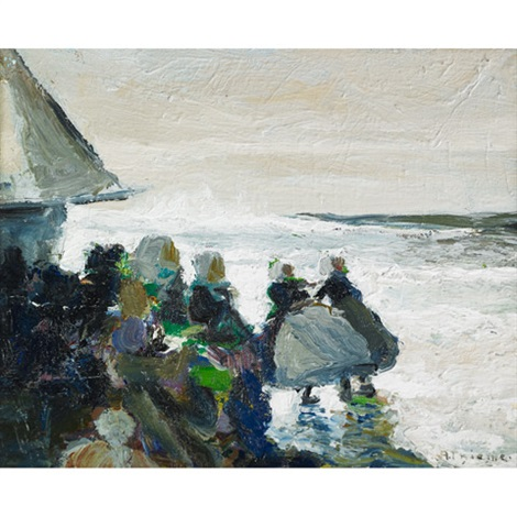 dutch girls on the coast by anthony thieme