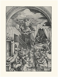 the birth of the virgin (from the life of the virgin) by albrecht dürer