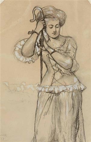 shepherdess by winslow homer