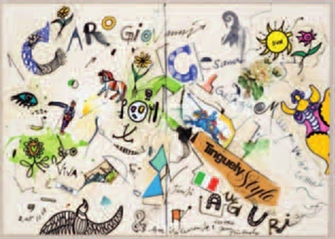 lettera tanti auguri by jean tinguely