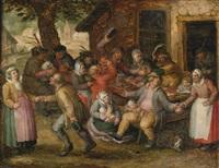 peasant feast by david vinckboons
