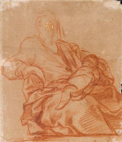 vierge tenant dans ses bras lenfant endormi by luca giordano